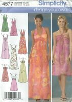 Simplicity 4577 Misses'  Evening Dresses 4, 6, 8, 10  Sewing Pattern