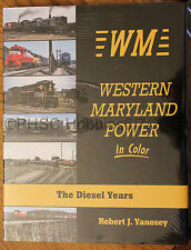 MORNING SUN BOOKS - WESTERN MARYLAND POWER In Color Diesel Years - HC 128 Pages