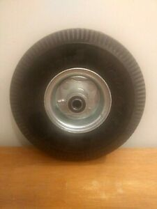 "4.10/3.50-4"" Flat Free, Utility Tire on Wheel, 3.5"" Centered Hub, 3/4"" Bearings"