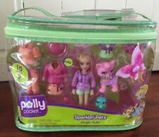 Polly Pocket 2008 Sparklin' Pets Jungle Tails Playset Factory Sealed 15 Pieces