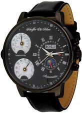 Scheffler & Söhne - schwarze XXL Uhr mit Temperaturanzeige
