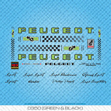 Peugeot PX/PY10 Bicycle Decals - Transfers - Stickers - Green & Black - Set 350