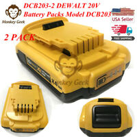 New 2 DCB203-2 DEWALT 20V 20 Volt Max Lithium-Ion Battery Packs Model DCB203