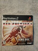 PlayStation 2 Red Faction II Demo Disc 2002 THQ Volition PS2 SEALED RARE