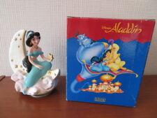 RARE Disney Schmid JASMINE ON MOON MUSIC BOX - Boxed - STUNNING