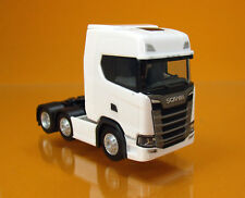 Herpa 307543 SCANIA CS 20 Highline 6x2 TRATTORE CAMION BIANCO scale 1 87 NUOVO OVP