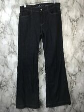 7 For All Mankind Ginger Flare Trousers Jeans Dark Wash Sz 30
