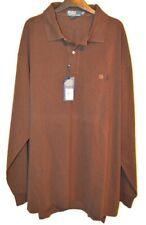 NEW With Tags Men's Ralph Lauren Brown 3XLT XL Tall Long Sleeve Polo Shirt