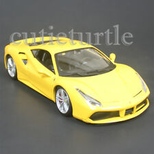 Bburago Ferrari Race & Play 488 GTB 1:24 Diecast Model Car 26513 Yellow
