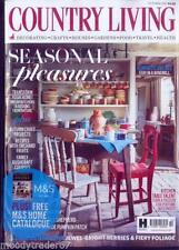 October Home & Garden Country Living Magazines in English