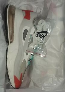 Nike Air Max 270 React - White Red Orange Tip