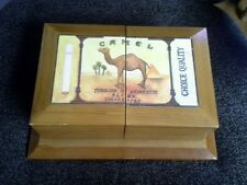 Camel Cigarettes Jewelry Valet Box Thomas Museum Series Wooden Fold Out