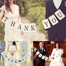 THANK YOU Letter Wedding Card Banner Sign Married Photo Prop Decoration Retro