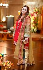 Asian Suit Formal Pakistani Wedding suit Indian Dress with Banarsi pants Medium