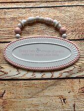 Girls Pink White Ceramic Room Decor