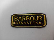 Parche bordado para coser Barbour 8/3 cm  adorno ropa personalizada