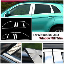 Full Window Middle Pillar Molding Trim Stainless Steel For Mitsubishi ASX