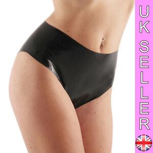 Sexy Latex Panty Pants Briefs Knickers Sharon Sloane Fetish Gummi Black SML 8/14