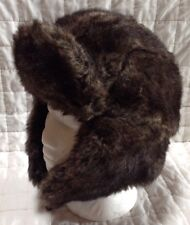 MOSSIMO Mens Womens Brown Faux Fur Cold Weather Trapper Hat Cap