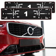 2 x NUOVO EFFETTO CARBONIO targa Titolare staffa cornice per qualsiasi auto CITROEN