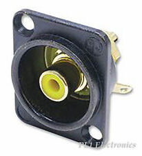 NEUTRIK   NF2D-B-4   SOCKET, PHONO, BLACK, D, YELLOW