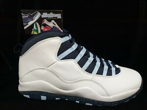 Nike Air JORDAN 10 ICE BLUE Retro 2005 Sz 12 UNC NEW DS X Vintage 310805-141