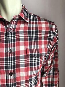 Patagonia Shirt, Sierra Plaid, Small, Organic Cotton-Poly Blend, Exc Cond