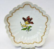 Meissen Porzellan Schale 1. Wahl Bunte Blume Osierrand Ø 20 cm