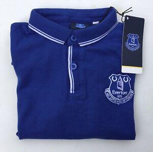 Everton EFC Polo Shirt Boys Kids Junior Football Top T-Shirt Blue Tee 5-13 Years