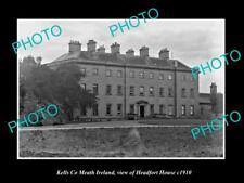 OLD LARGE HISTORIC PHOTO OF KELLS MEATH IRELAND VIEW OF HEADFORT HOUSE c1910