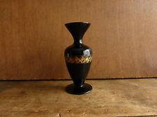 vase en opaline noire avec dorure