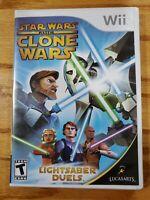 Star Wars: The Clone Wars - Lightsaber Duels (Nintendo Wii, 2008) Complete!