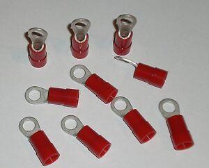 Quetschkabelschuhe Ringkabelschuhe 10mm² - M6 isoliert Rot Ringform - 10 Stück
