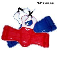 Tusah Taekwondo WT Approved Reversible Body Guard Pad Red Blue Adult Kids Trunk