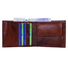 Hide & Sleek Designer Men's Brown Bifold Leather Wallet Card Holder