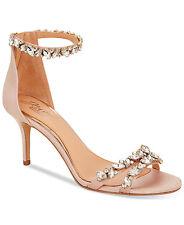 JEWEL By Badgley Mischka Caroline Ankle-Strap Evening Sandals Size 9 Champagne