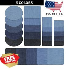 5 Colors Diy Iron on Denim Fabric Patches for Clothing Jeans Repair Kit