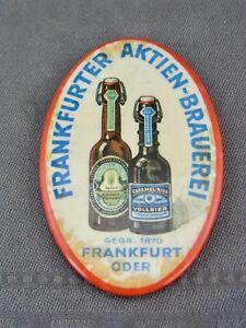 """schöner alter Handspiegel """"Frankfurter Aktien Brauerei"""""""