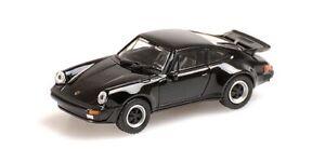 MINICHAMPS 870066101 Porsche 911 Turbo (930) 1977 Negro Ho 1:87 Nuevo