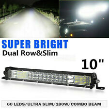 10inch 180W LED Light Bar Dual Row Spot Flood Combo Work Offroad ATV 4WD UTE SUV