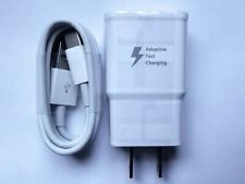 Adaptive Fast Charging Type C Cable + Wall Charger Adapter USB-C Cord 9V 1.67A