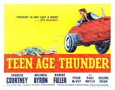 Teen Age Thunder ,   vintage  Movie Advertising poster reproduction.