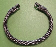 Small Viking Dragon Head Solid Hand Crafted Pewter Bracelet