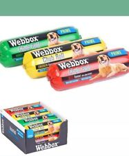 WEBBOX 800 Or 720 g CHUB ROLLS Wet Dog Food Assorted Flavours x 12 Rolls