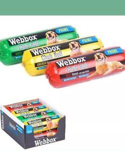 WEBBOX 800 Or 720 g CHUB ROLLS Wet Dog Food Assorted Flavours x 12 Rolls