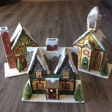 Costco Christmas Advent Village Calendar Holiday Houses Doors Church New No Box