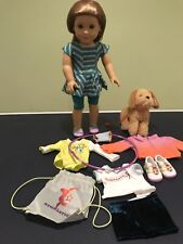AMERICAN GIRL DOLL   GIRL OF THE YEAR 2012     McKenna with clothes and dog