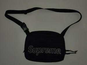 FW18 Supreme black shoulder bag Water and Abrasion resistant