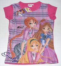 Maglietta WINX da 4 a 10 anni maglia bambina t-shirt bimba cartoni rosa- fuxia