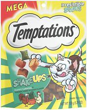 TEMPTATIONS MixUps & Shake Ups Crunchy and Soft Cat Treats, 5 - 6.3 oz. Chicken